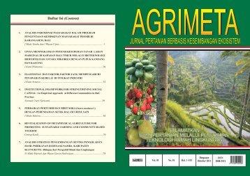 jurnal pertanian berbasis keseimbangan ekosistem - Universitas ...