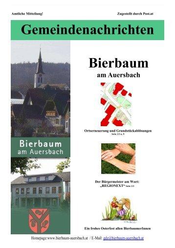 1. 2007 Gemeindezeitung - Gemeinde Bierbaum am Auersbach