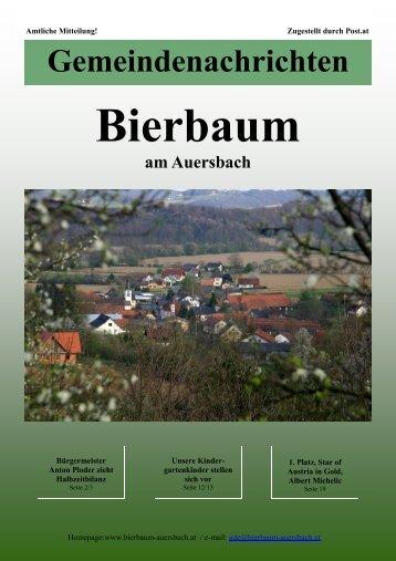 11.2008 Gemeindezeitung - Gemeinde Bierbaum am Auersbach