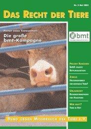 Rdt 2 2003 - Bund gegen Missbrauch der Tiere ev