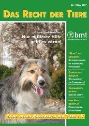 RDT 1/2007 - Bund gegen Missbrauch der Tiere ev