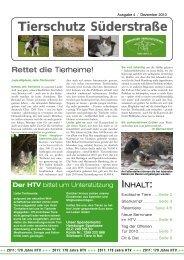 Tierschutz Süderstraße - Hamburger Tierschutzverein von 1841 e.V.