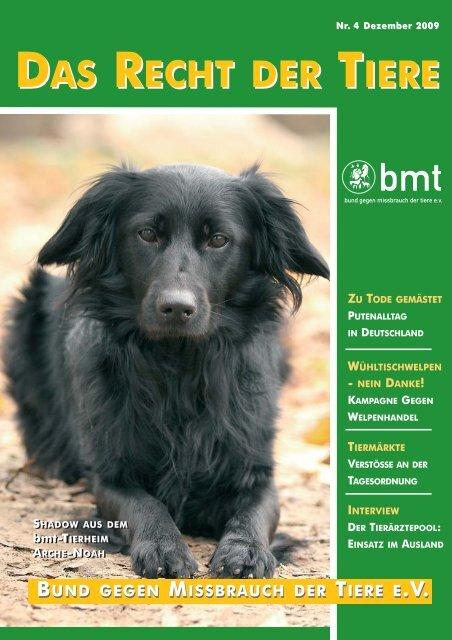 RDT 4/2009 - Bund gegen Missbrauch der Tiere ev