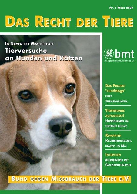 RDT 1/2009 - Bund gegen Missbrauch der Tiere ev