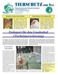 Tierschutz am See - Tierschutzverein Friedrichshafen und ...