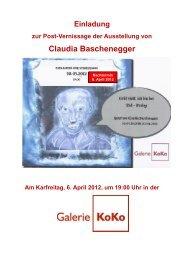 Claudia Baschenegger - Galerie KoKo
