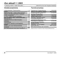 Zoo aktuell 1/2003 - Tiergartenfreunde Heidelberg eV