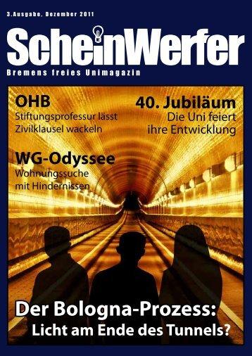 Der Bologna-Prozess: - Scheinwerfer - Universität Bremen
