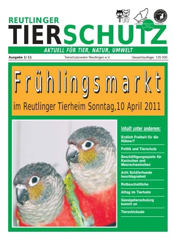 im Reutlinger Tierheim Sonntag,10 April 2011 - beim ...