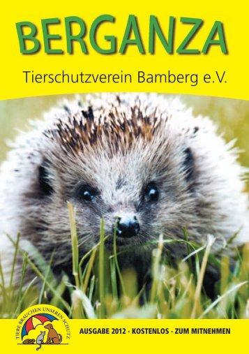 Vereinsheft 2012 - Tierheim Bamberg