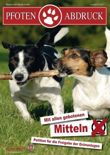 Pfotenabdruck 01/2010 (pdf, 9255kb) - Hundelobby