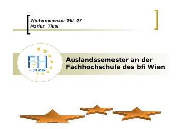 Vortragsfolien von Marius Thiel - Fachhochschule Brandenburg
