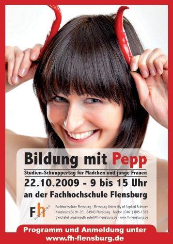 Programm und Anmeldung unter  www.fh-flensburg.de