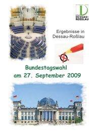 Bundestagswahl am 27. September 2009 - dessau-rosslau - Dessau ...