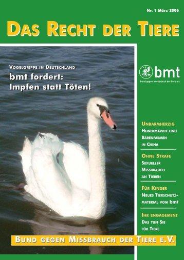 RDT 1/2006 - Bund gegen Missbrauch der Tiere ev