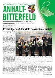 Ausgabe 22 vom 23. November 2012 - Landkreis Anhalt-Bitterfeld