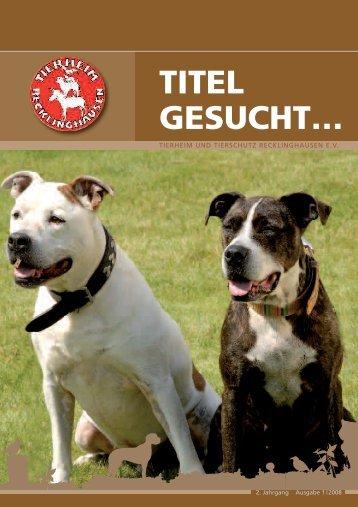 TITEL GESUCHT… - Tierheim Recklinghausen