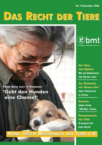 RDT 4/2006 - Bund gegen Missbrauch der Tiere ev