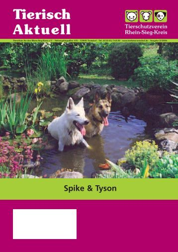 Tierisch Aktuell Ausgabe 2/2006 - Tierheim Troisdorf