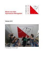 Ausgabe 4/2011 (Oktober) - Gymnasium Weingarten