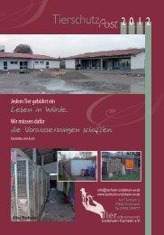 Tierschutzpost 2012 (7 MB) - Tierschutzverein Crailsheim Tierheim eV
