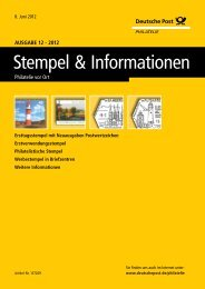 Ansicht und Download (PDF) - Deutsche Post - Philatelie