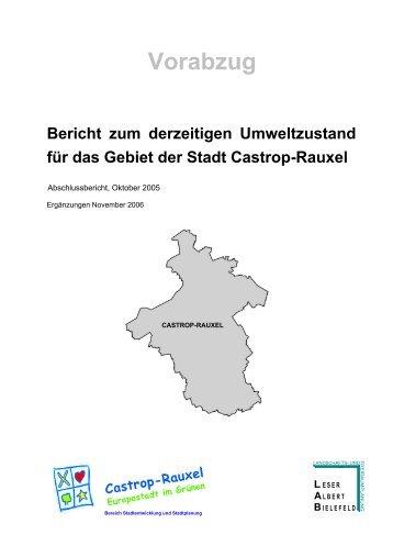 Bericht zum Umweltzustand.pdf - Stadt Castrop-Rauxel
