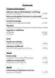 Wochenkarte Vorspeisen/Pasta/Suppen: Fisch ... - Feinkost Kahn