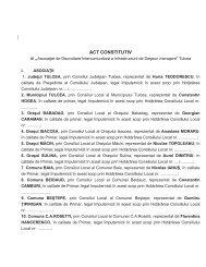 """Anexa nr.1 ACT CONSTITUTIV al """" - pagina de start"""