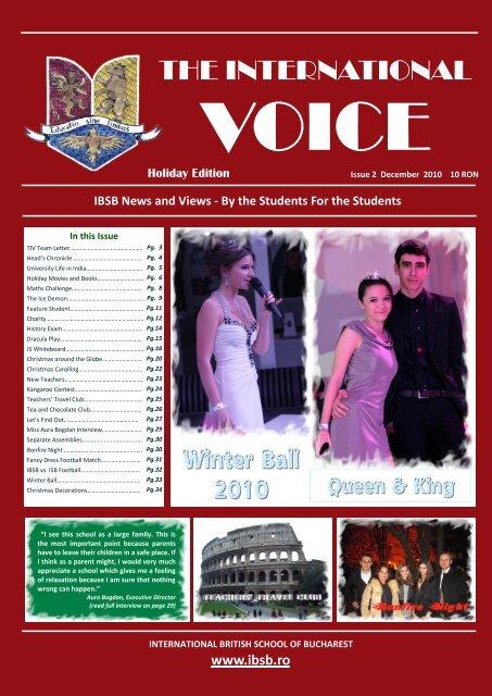 TIV Issue 2 November - December 2010 - Fundatia International ...