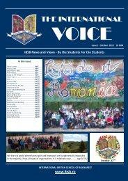 TIV Issue 1 September - Fundatia International British School of ...