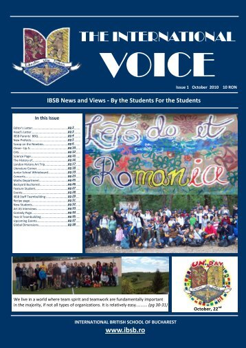 TIV Issue 1 September - Fundatia International British School of ...