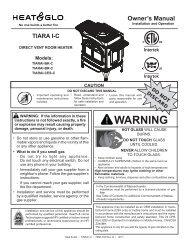 Tiara I Gas Stove Install Manual - Fireplaces Plus