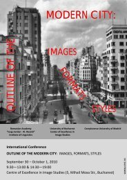International Conference OUTLINE OF THE MODERN CITY ... - CESI