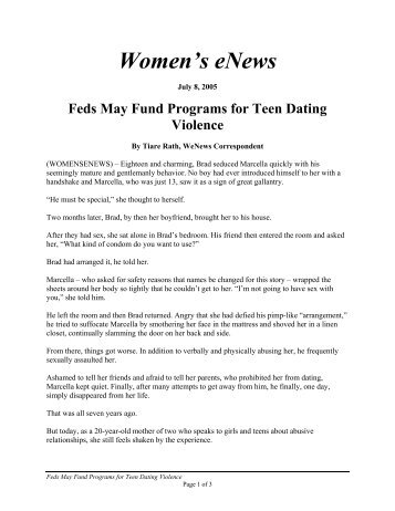 Women's eNews - National Center on Domestic and Sexual Violence
