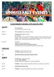 Calendar of Events 2012 - Island Hopper Vacations