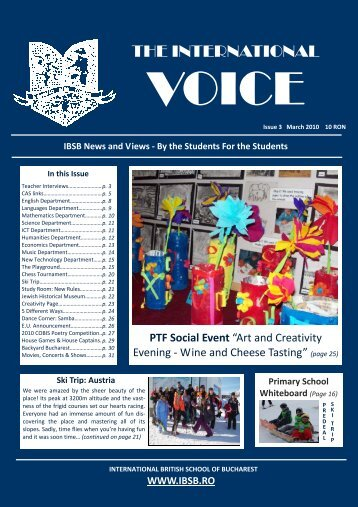 TIV Issue 3 March 2010 - Fundatia International British School of ...