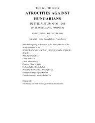 atrocities against hungarians - Corvinus Library - Hungarian History