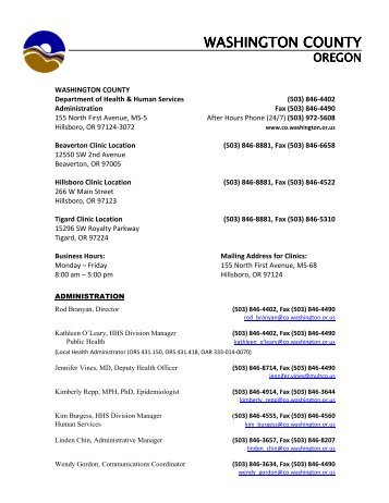 Washington County, 9-17-2012 - Public Health