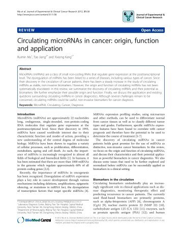 View PDF - Journal of Experimental & Clinical Cancer Research