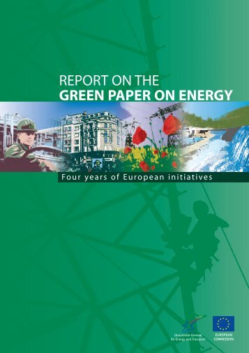 REPORT ON THE GREEN PAPER ON ENERGY - Userpage