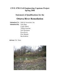 Ottawa River Remediation - College of Engineering - The University ...