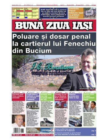 Poluare [i dosar penal la cartierul lui Fenechiu din ... - Buna Ziua Iasi