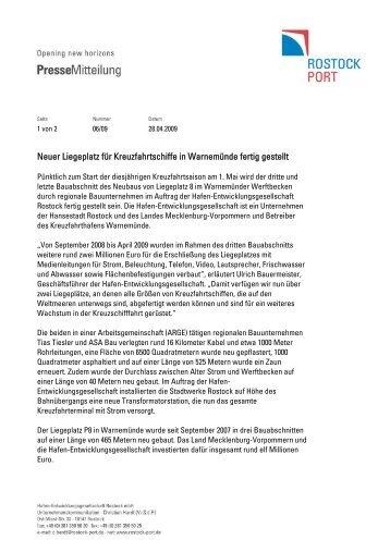 Bauunternehmen Rostock fahrplan timetable rostock port
