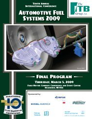 Automotive Fuel Systems 2009 - The ITB Group