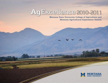 2011 - College of Agriculture - Montana State University