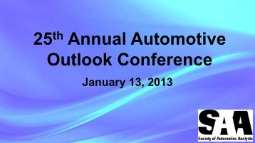 9th Annual Strategic Planning Summit - Auto Thought Leaders