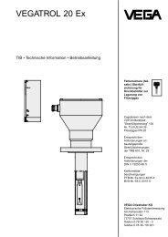 VEGATROL 20 Ex - TIB - Technische Information - Betriebsanleitung