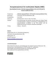 Kompetenzzentrum für multimediale Objekte (KMO) - TIB