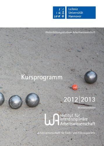 Wintersemester 2012/2013 - Weiterbildungsstudium ...